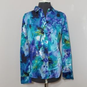 New York & Company Watercolor Blouse